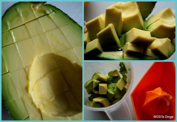 Avocado-Drip: reife Avocado gebraucht