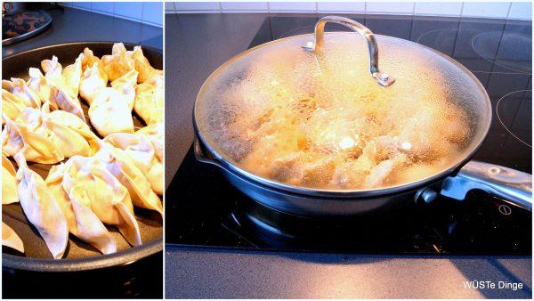 dumplings-Zubereitung