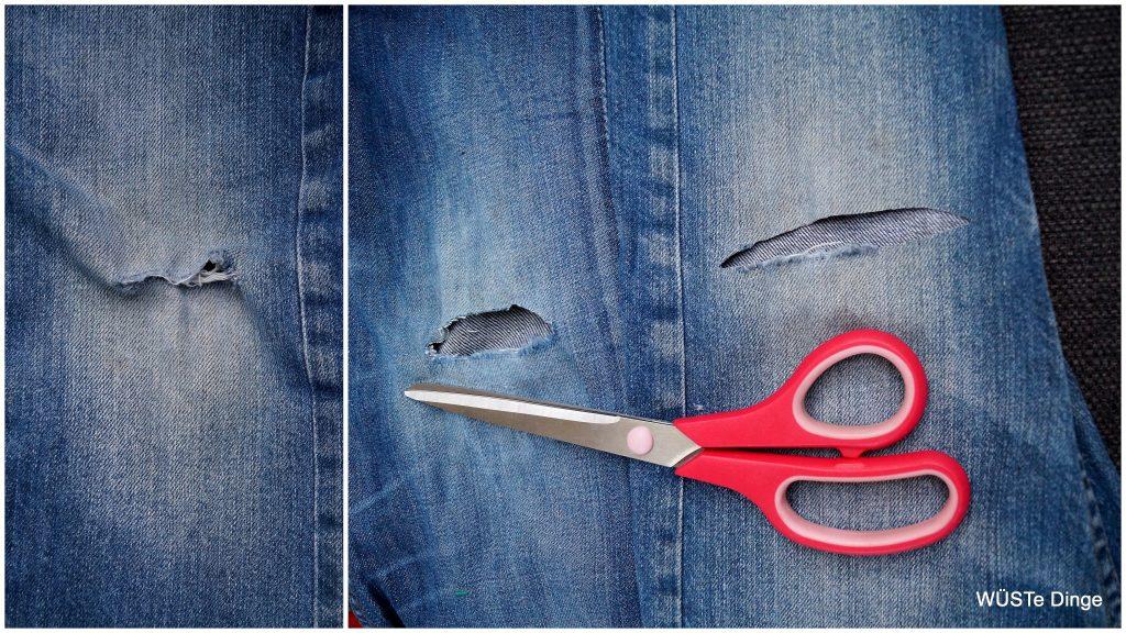 Monsterknie - die Löcher müssen zurecht geschnitten werden