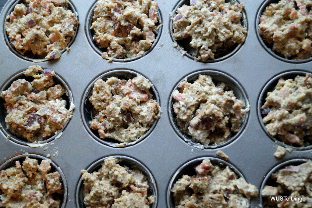 Brotmuffins - ab in den Ofen