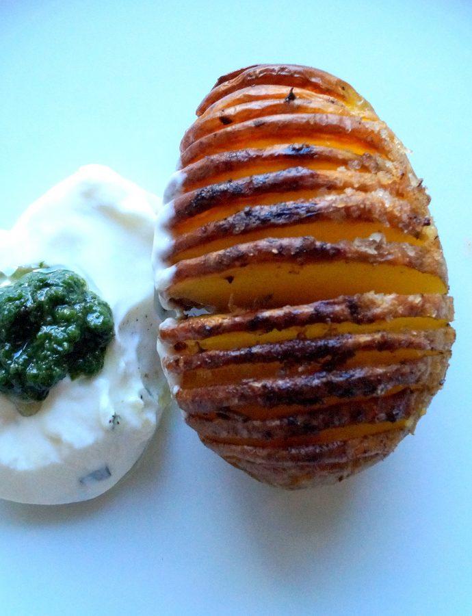Hasselback und die Kartoffel