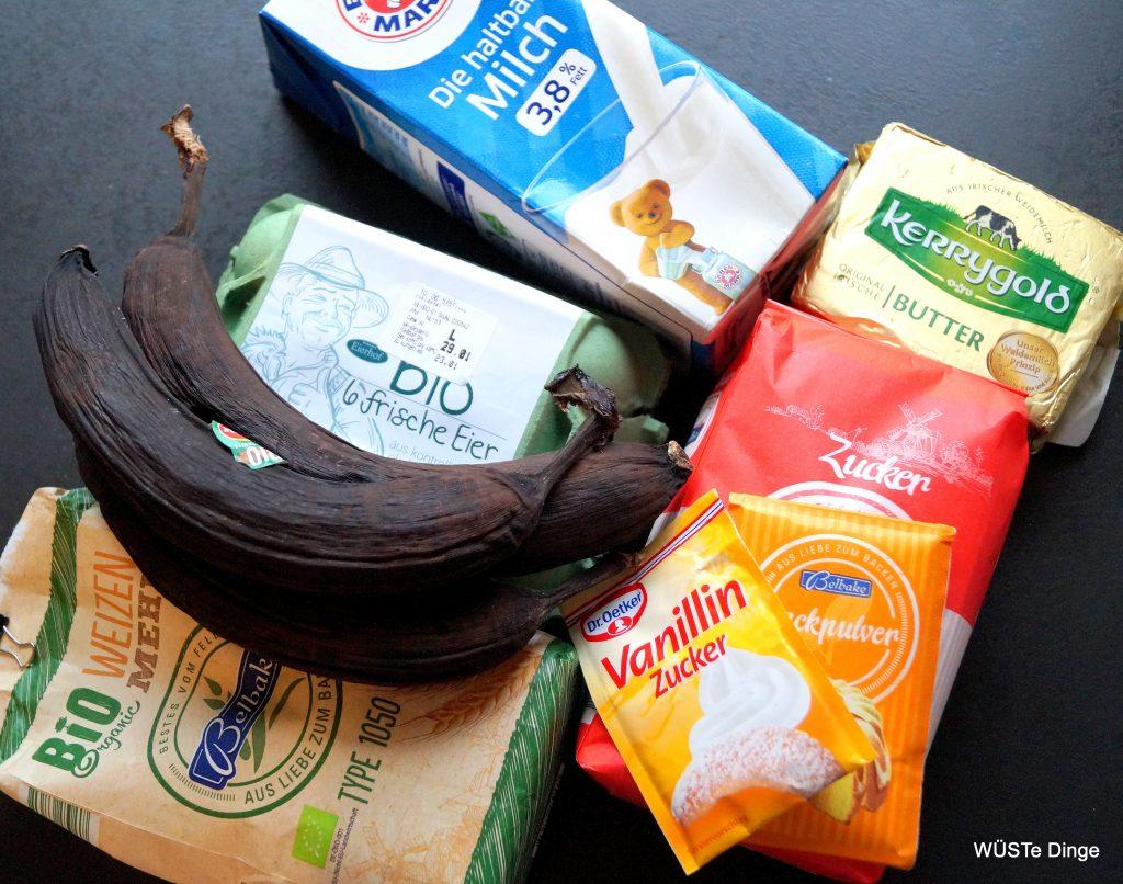 Bananenbrotmuffinkuchen - die Zutaten