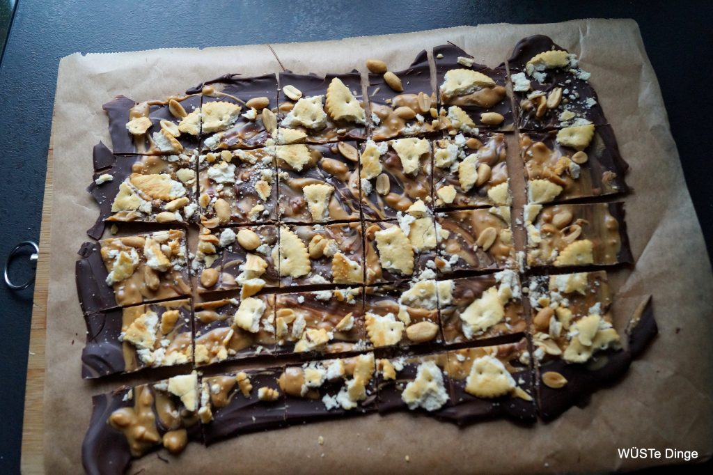 Schokolade salzig - frisch aus dem Kühlschrank