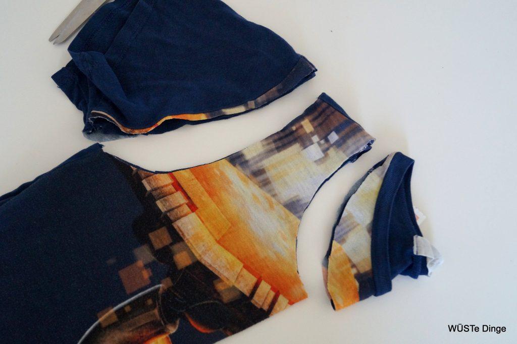 refashion-t-shirt zu Tasche - abschneiden
