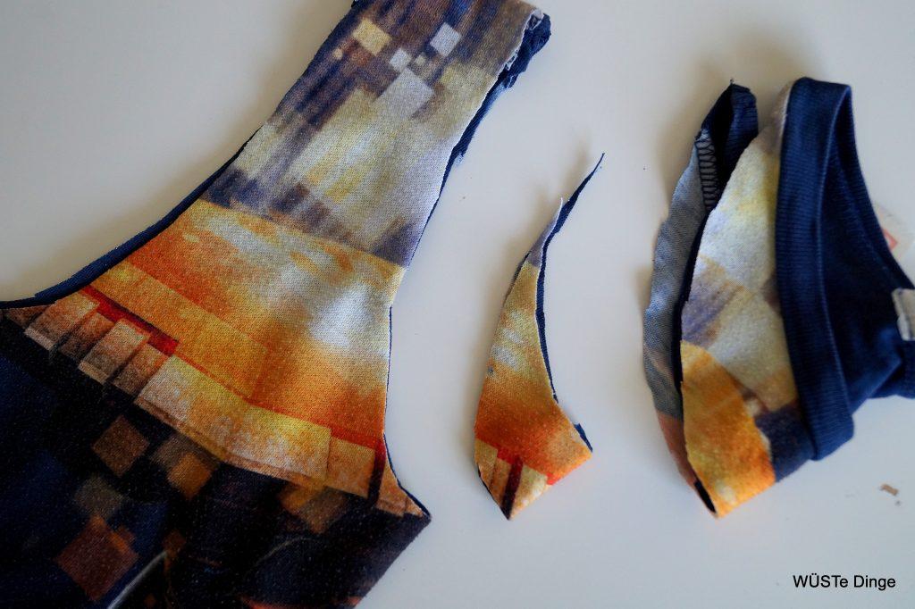 refashion-t-shirt zu Tasche - noch mehr abschneiden