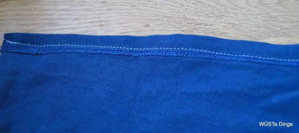 refashion-t-shirt zu Tasche - unten zusammennähen
