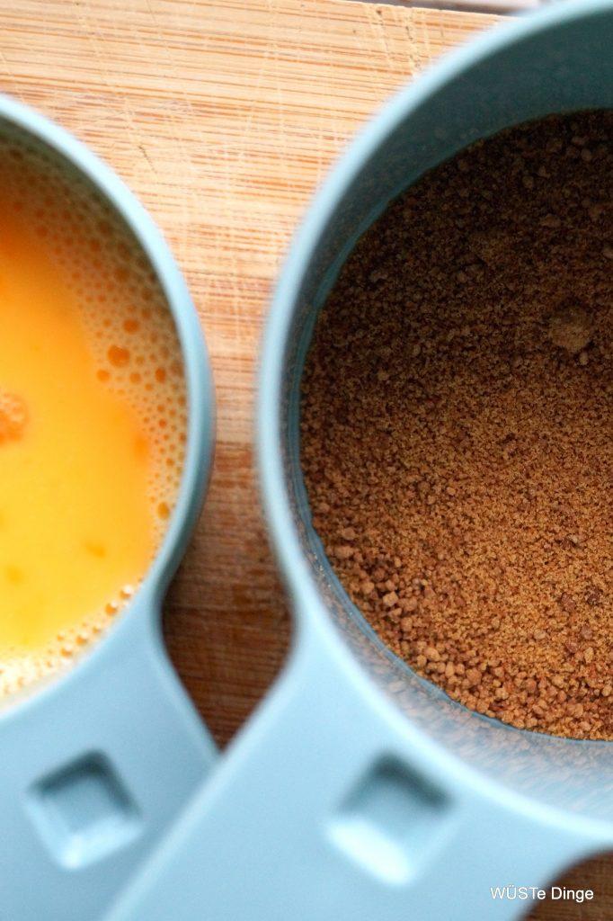 eggwash und Zucker