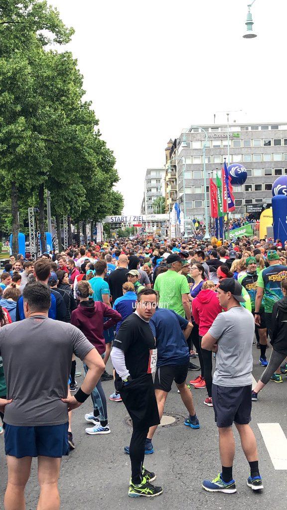 10 km - Lauf - Start und Ziel