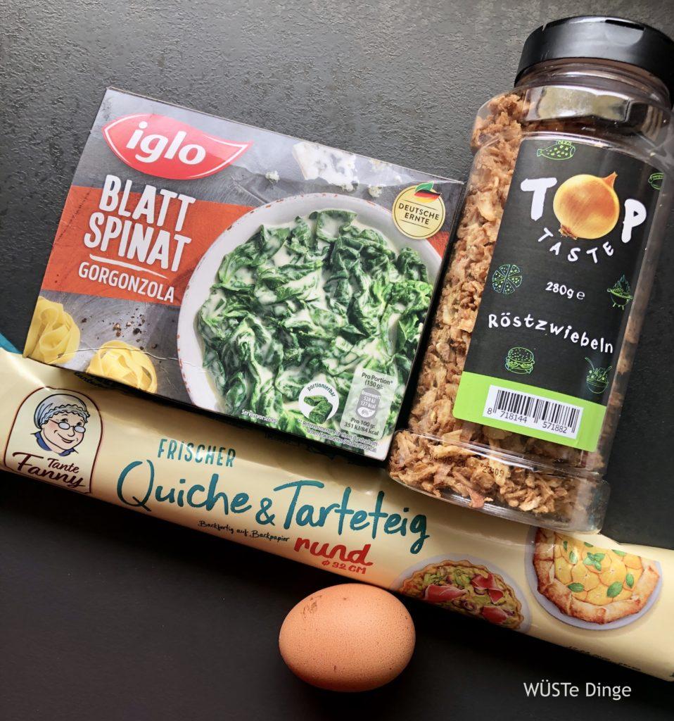 Zutaten für eine leckere Spinat-Tarte