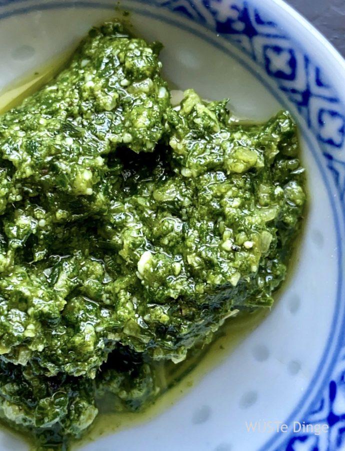 Möhrengrün-Pesto – wenn es lecker sein soll