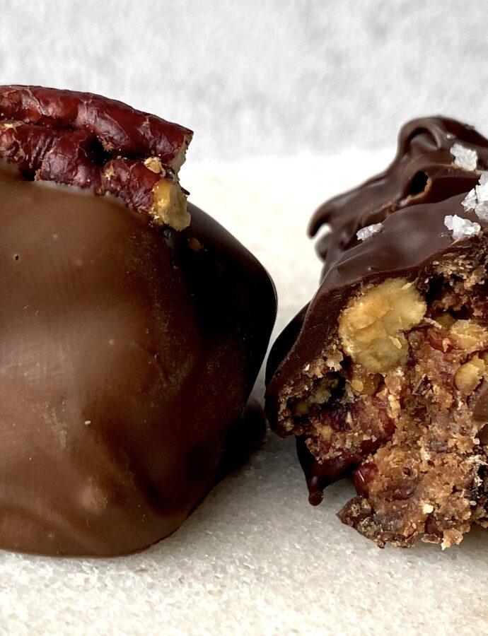 pecan pie bites mit einem Hauch Schokolade